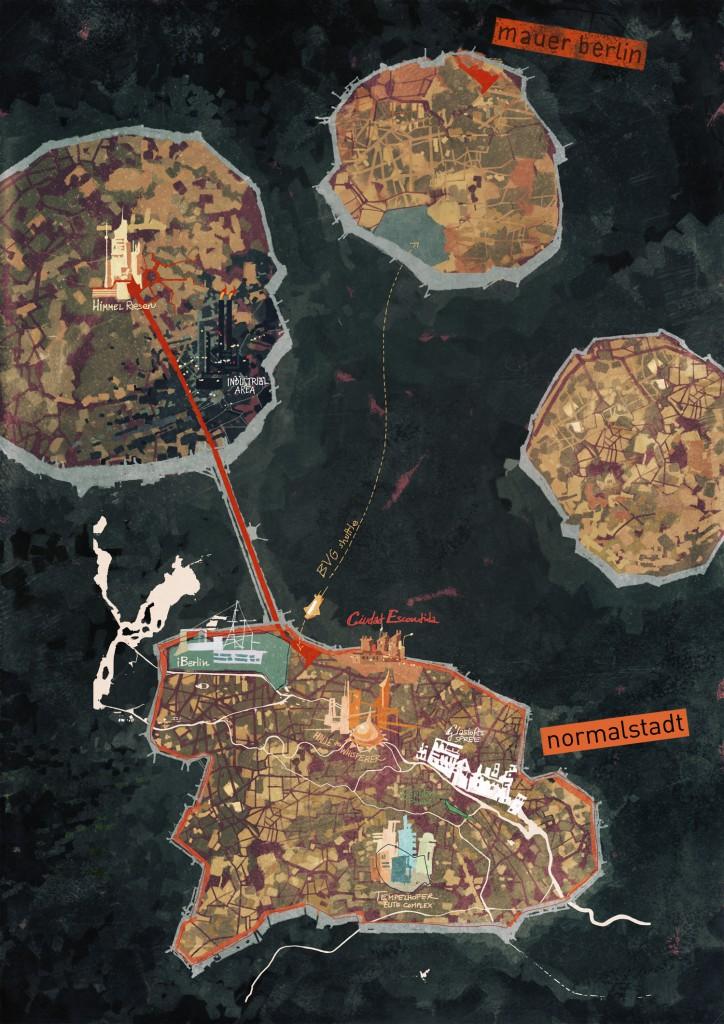 Erster Entwurf der Karte